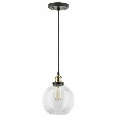 Bundy 1-Light Bowl Pendant Finish: Antique Brass