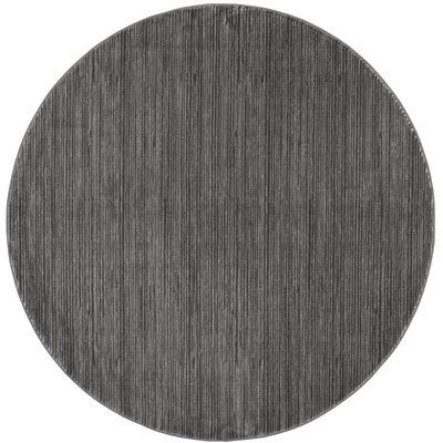 Sifford Gray Area Rug Rug Size: Round 67