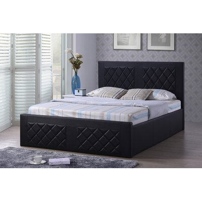 Caudell Upholstered Platform Bed Upholstery: Black, Size: Queen