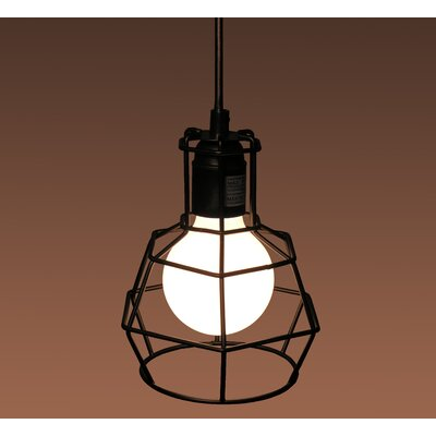 Caulfield Adjustable Height 1-Light Mini Pendant