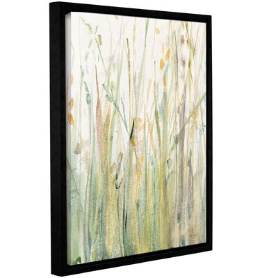'Spring Grasses I Crop' Framed Painting Print on Canvas Size: 10