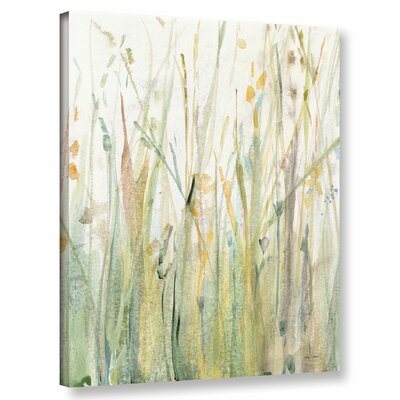 'Spring Grasses I Crop' Painting Print on Wrapped Canvas Size: 10