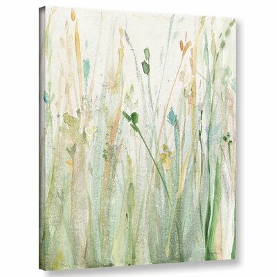 'Spring Grasses II Crop' Painting Print on Wrapped Canvas Size: 10