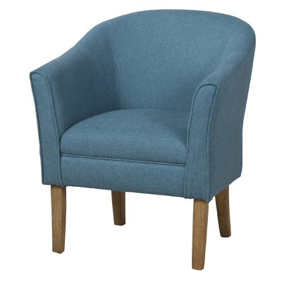Causey Upholstered Barrel Chair Color: Teal