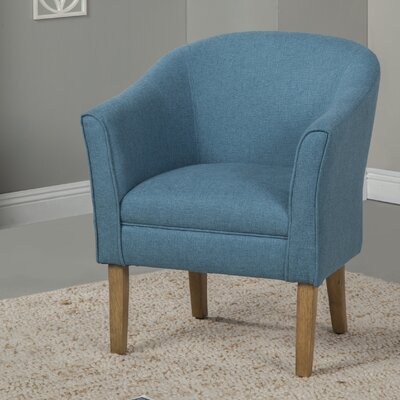 Causey Barrel Chair Upholstery: Teal