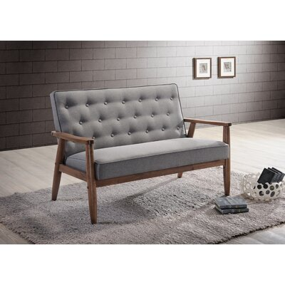 Zoee Loveseat Upholstery: Grey