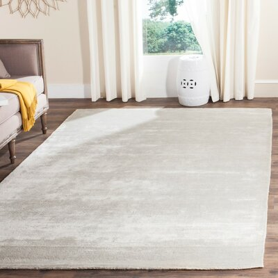 Flanigan Hand Woven Gray Area Rug Rug Size: Rectangle 6 x 9