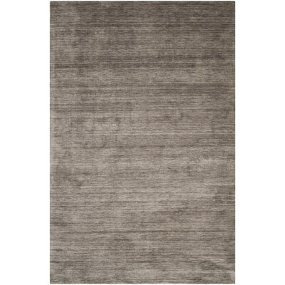 Flanigan Brown/Charcoal Rug Rug Size: Rectangle 6 x 9