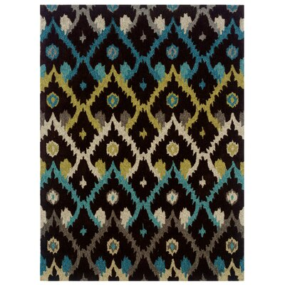 Askins Hand-Tufted Charcoal Area Rug Rug Size: 5 x 7