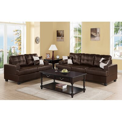 Wamsutter Sofa and Loveseat Set Upholstery: Espresso