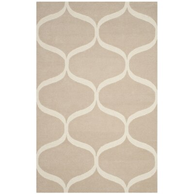 Martins Hand-Tufted Light Beige/Ivory Area Rug Rug Size: 5 x 8