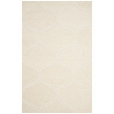 Charlenne Hand-Tufted Ivory Area Rug Rug Size: 5 x 8