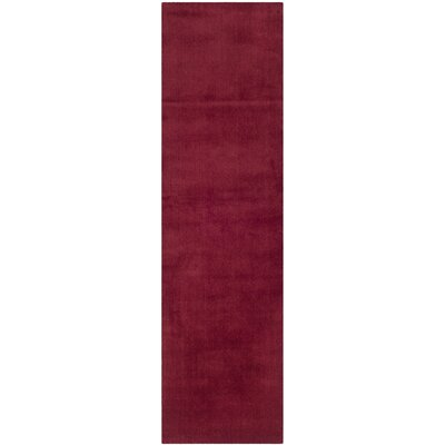 Bargo Red Area Rug Rug Size: Runner 23 x 14