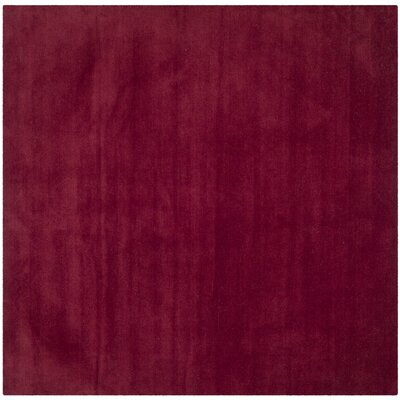 Bargo Red Area Rug Rug Size: Square 4