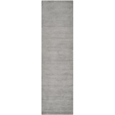Bargo Hand-Woven Wool Grey Area Rug Rug Size: Runner 23 x 18