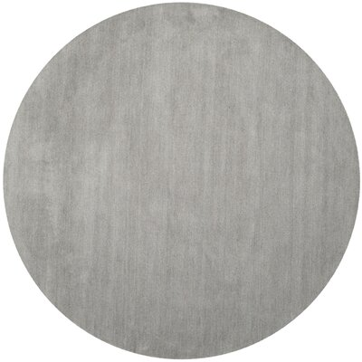 Bargo Hand-Woven Wool Grey Area Rug Rug Size: Square 4