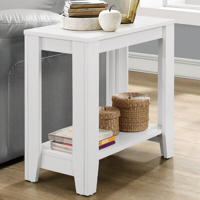 Trombetta End Table Finish: White