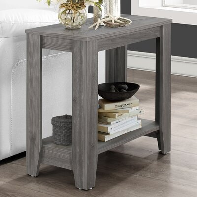 Trombetta End Table Finish: Gray