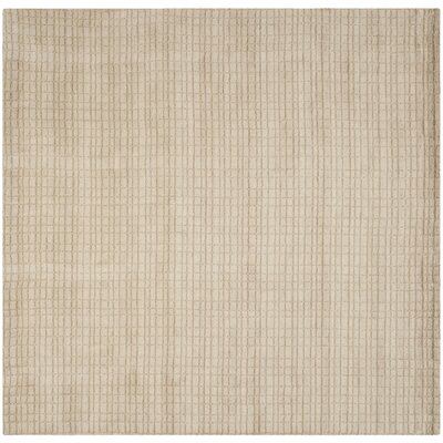Bolick Beige Area Rug Rug Size: Square 7