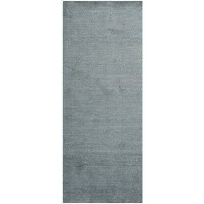 Bargo Dark Blue Ombre Area Rug Rug Size: Runner 23 x 6
