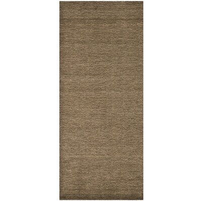 Bolick Brown Solid Area Rug Rug Size: Runner 23 x 10