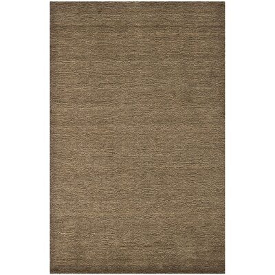 Bargo Brown Solid Area Rug Rug Size: Rectangle 89 x 12