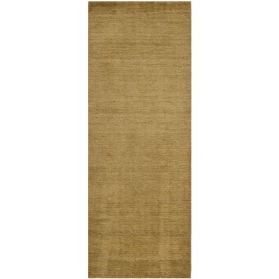 Bargo Green Solid Area Rug Rug Size: Runner 23 x 8