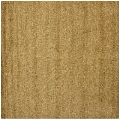 Bargo Green Solid Area Rug Rug Size: Square 6