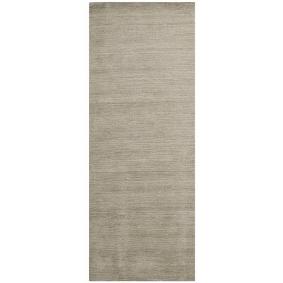 Trost Grey Solid Area Rug Rug Size: Rectangle 3 x 5