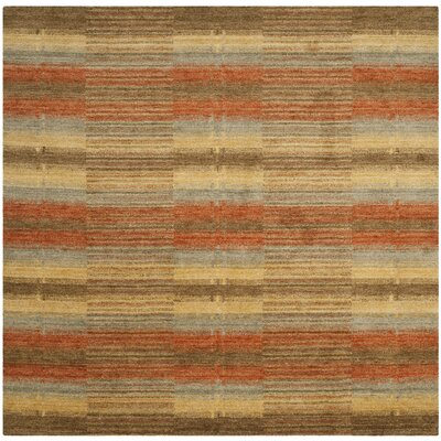 Trost Striped Area Rug Rug Size: Square 6