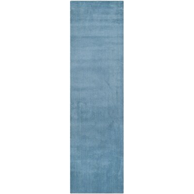 Bargo Hand-Woven Wool Blue Area Rug Rug Size: Runner 23 x 10