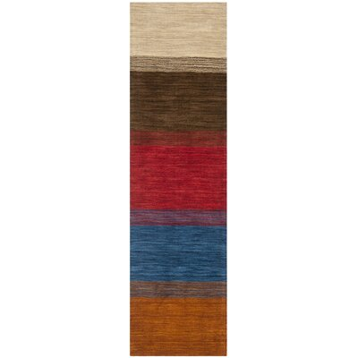 Bolick Red/Green Area Rug Rug Size: Runner 23 x 10