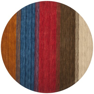 Bolick Red/Green Area Rug Rug Size: Round 6