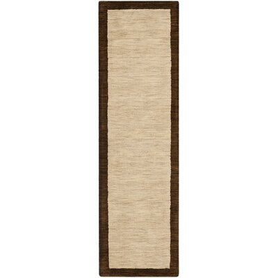 Trost Beige&Dark Brown Area Rug Rug Size: Rectangle 89 x 12
