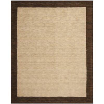 Trost Beige&Dark Brown Area Rug Rug Size: 3 x 5