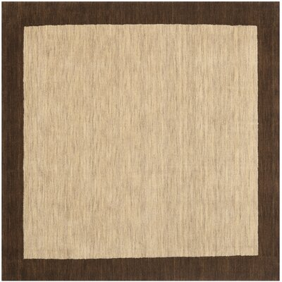 Trost Beige&Dark Brown Area Rug Rug Size: Square 6