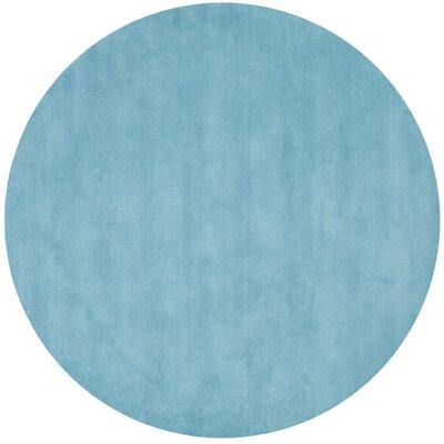 Trost Turquoise Area Rug Rug Size: Round 6