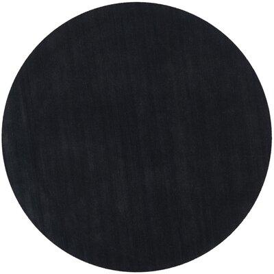 Bargo Black Area Rug Rug Size: Round 6