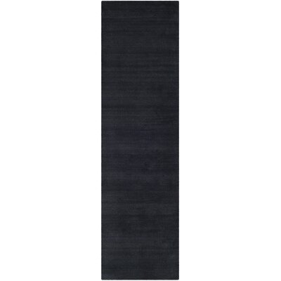Bargo Black Area Rug Rug Size: Runner 23 x 12