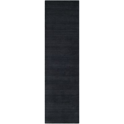 Bargo Black Area Rug Rug Size: Runner 23 x 6