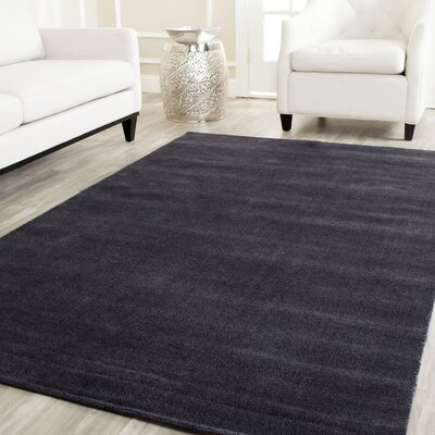 Trost Black Area Rug Rug Size: Rectangle 6 x 9