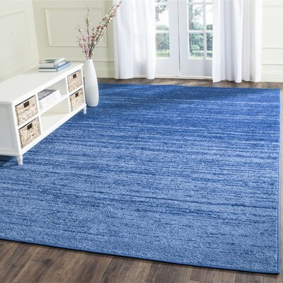 Rebel Blue Area Rug Rug Size: 10 x 14