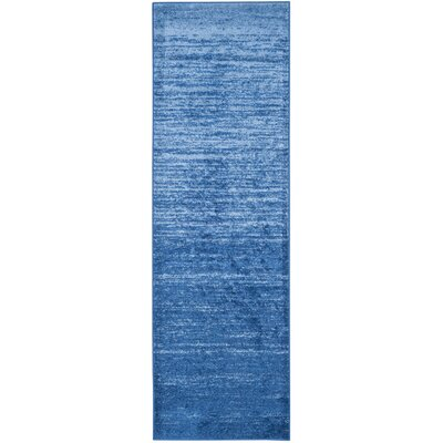 Rebel Blue Area Rug Rug Size: Runner 26 x 8