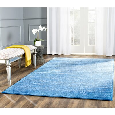 Rebel Blue Area Rug Rug Size: 51 x 76