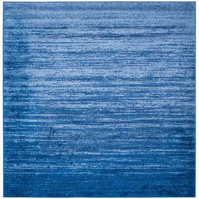 Rebel Blue Area Rug Rug Size: Square 8