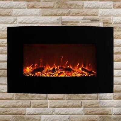 Fellman Curved Wall Mount Electric Fireplace