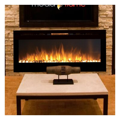 Fellman Pebble Stone Wall Mount Electric Fireplace Size: 20.25