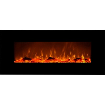 Fellman Wall Mount Electric Fireplace Finish: Black