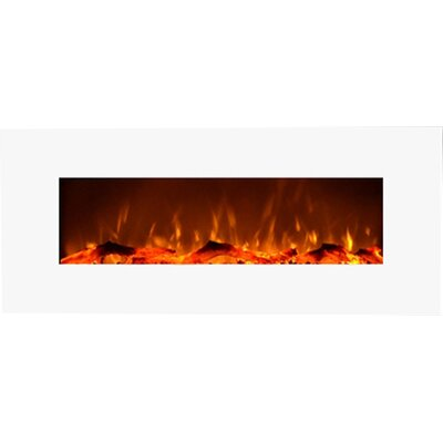 Fellman Wall Mount Electric Fireplace Finish: White