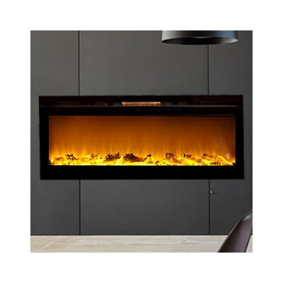 Fellman Log Built-In Wall Mount Electric Fireplace Size: 20.25